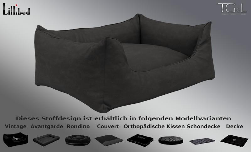 Lillibed / TG&L Kunsteleder Anthrazit
