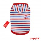 Puppia T-shirt Admiral rot Rücken mit Kapuze