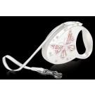 Flexi Luxus Glam Butterfly Medium Perlmutt-Weiß